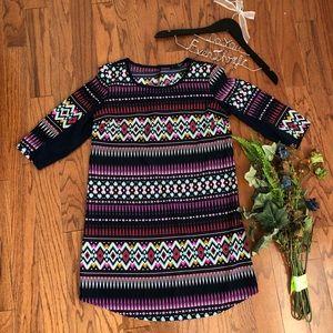 BeBop Small Dress 3/4 Sleeve Retro Keyhole Back